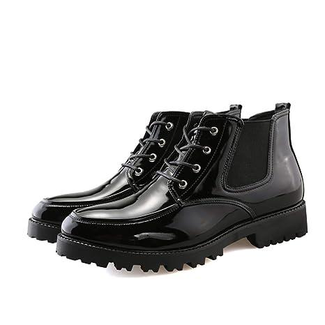 YAJIE-boots, Clásico de los Hombres con Cordones con Suela de Charol Botas Altas