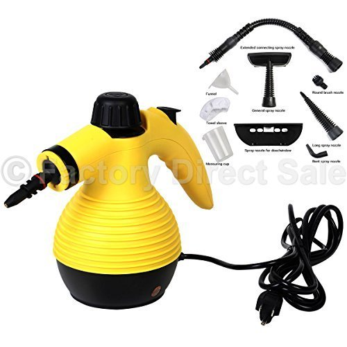 Multi Purpose Handheld Steam Cleaner 1050w Portable Steamer W/attachments New