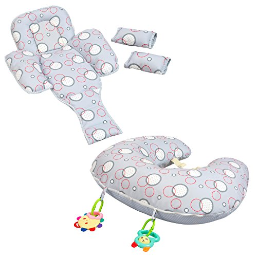 Clevamama Clevacushion 10in1 Nursing Pillow - Maternity and Baby Cushion...
