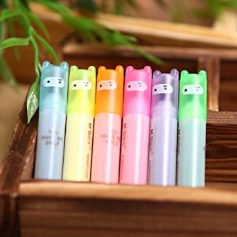 Pack de 6 mini rotuladores subrayadores fluorescentes Mini Ninja de Stationery Island: Amazon.es: Juguetes y juegos