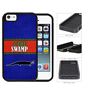 Hashtag The Swamp School Spirit Slogan Chant iPhone 5 5s 2-piece Dual Layer High Impact Black Silicone Cover