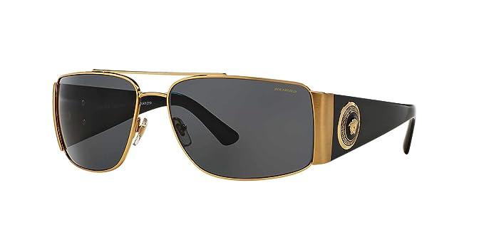 Amazon.com: Versace VE2163 - Gafas de sol para hombre (metal ...