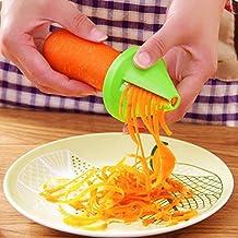 Slicer Spiral for Vegetable Fruit, Fheaven Kitchen Funnel Model Spiral Slicer Vegetable Shred Carrot Radish Cutter (Red)