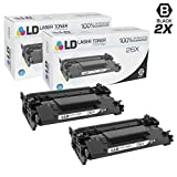 LD Compatible Replacements for HP 26X/CF226X Set of 2 High Yield Black Laser Toner Cartridges for LaserJet Pro Printers: M402dn, M402dw, M402n, MFP M426fdn, MFP M426fdw