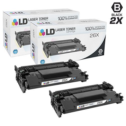 LD Compatible Replacements for HP 26X/CF226X Set of 2 High Yield Black Laser Toner Cartridges for LaserJet Pro Printers: M402dn, M402dw, M402n, MFP M426fdn, MFP M426fdw by LD Products