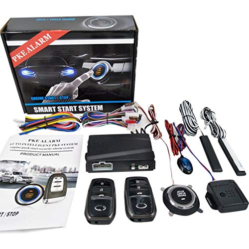 Zerama PKE Engine Start Alarm System Car Engine Push: Electronics