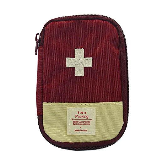 Wandern Camping Reisen tragbare Mini-erste Hilfe Kit Pille Storage Case Tasche Box Beutel Notfallwerkzeug rot