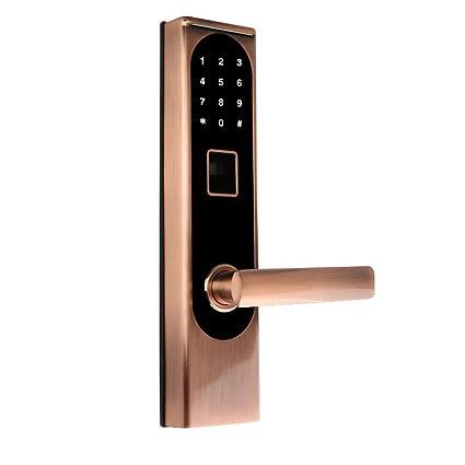 COL PETTI Cerraduras Bluetooth Bloqueo De Teclado Digital Biométrico Código De Huellas Dactilares Cerradura De Puerta