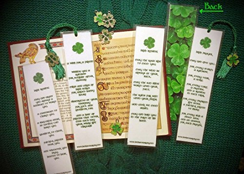 - Irish Blessing Prayer Wish for Friend Celtic Photo Bookmark w/Enamel 4 Leaf Clover Shamrock Spring Charm Celt Fine Art Photography Photo Laminated Handmade Bookmark