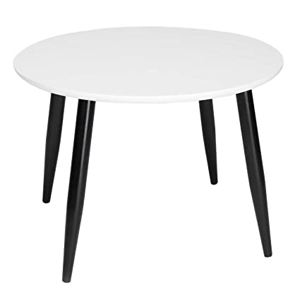Stupendous Taohfe End Table Round Modern Furniture 4 Legs Coffee Side Table Home Office White Short Links Chair Design For Home Short Linksinfo