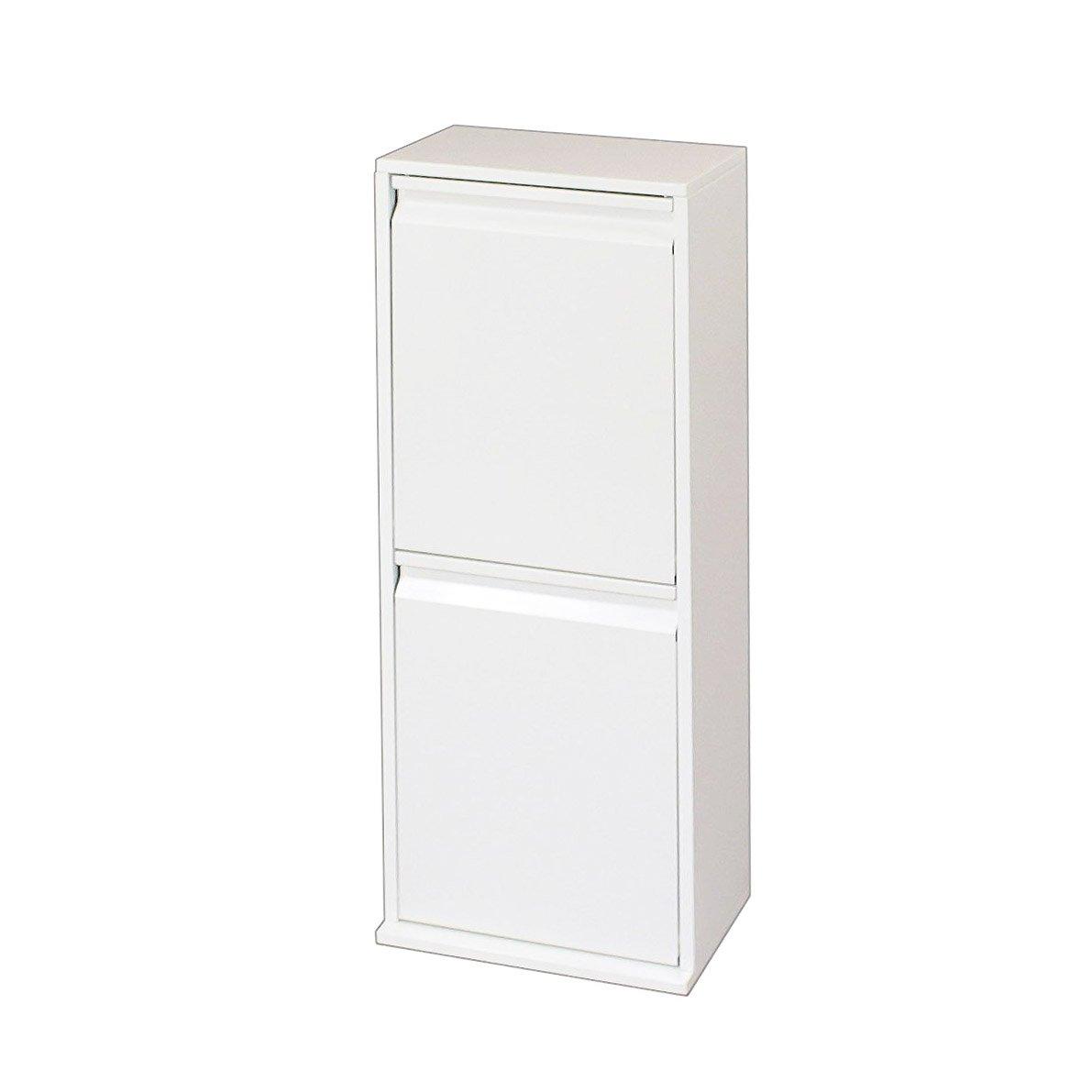 スチール 薄型 ダスト ボックス (2分別ホワイト) 18131 B01CZ9BTU82分別ホワイト