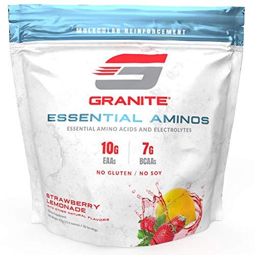 Granite® Essential Amino Acids + Branched Chain Amino Acids + Electrolytes (Strawberry Lemonade Flavor) | 10g EAAs + 7g…