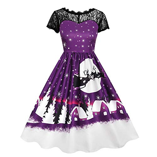 HZY Christmas Dress for Women Merry Christmas Vintage