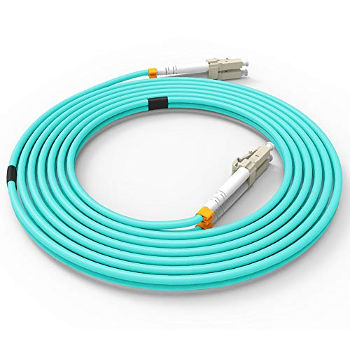 Fiber Patch Cable, VANDESAIL 10G Gigabit Fiber Optic Cables with LC to LC Multimode OM3 Duplex 50/125 OFNP (1M, OM3-5Pack) by Vandesail (Image #3)