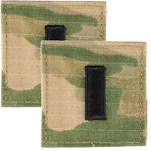 (Army Rank 1LT 1st Lieutenant OCP Patch 2x2 Hook & Loop - Pair)