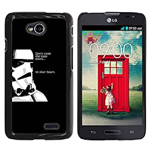iKiki Tech / Estuche rígido - Stormtrooper Pensamientos - LG Optimus L70