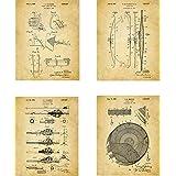 Archery Patent Wall Art Prints - set of Four (8x10) Unframed - wall art decor for an archer