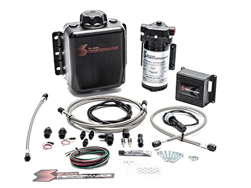 (Snow Performance SNO-20010-BRD Injection Kit (SS Braid Line & 4AN) (Stage 2 Boost Cooler Prog. Engine Mount Water-Methanol))