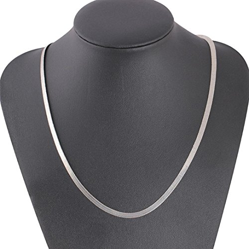 - Besooly Cuban Necklace Link Gold Jewelry Chain Luxury Filled Curb Men Women Fashion Jewelry (18, Silver)