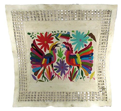 AMATE BARK PAPER & HAND EMBROIDERED ART