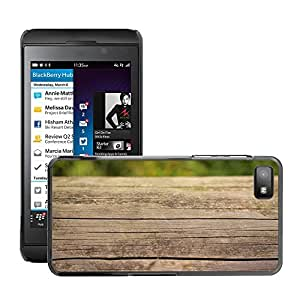 Hot Style Cell Phone PC Hard Case Cover // M00308197 Wood Brown Natural Wooden Old // BlackBerry Z10