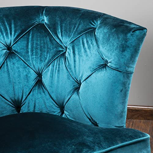 Christopher Knight Home 295627 Princeville Tufted KD Chair, Blue