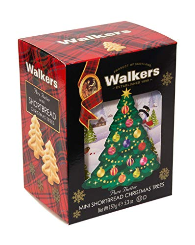 Walkers Shortbread Christmas Tree Shaped Mini Cookies, 5.3 oz (Tree Cookies Christmas Almond)