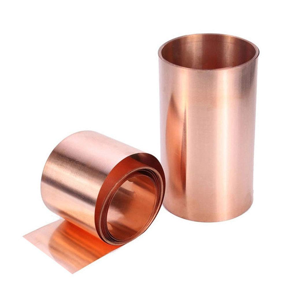 2PCS Metal Copper Sheet Plate, Copper Foil Tape, Metal Thin Sheet Foil for DIY Crafts 0.01 x 10cm x 1m