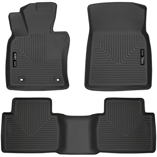 Husky Liners 95731 Black Front & 2nd Seat Floor Liners Fits 18-19 Camry