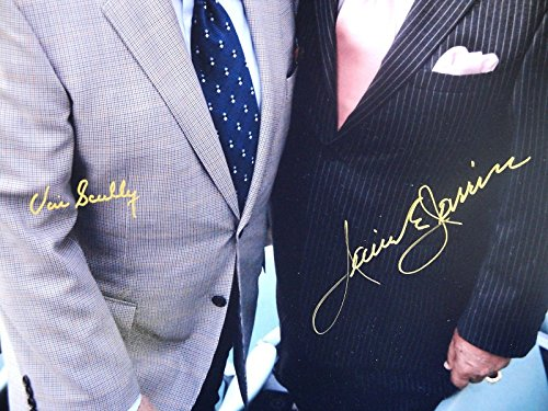 Vin Scully Jaime Jarrin Hand Signed Autograph 16x20 Photo LA Dodgers GA 718235