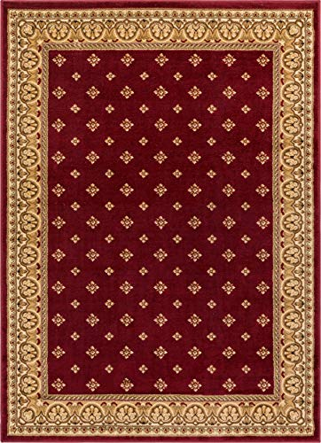 Noble Palace Red French European Formal Traditional Area Rug 7x10 ( 6'7