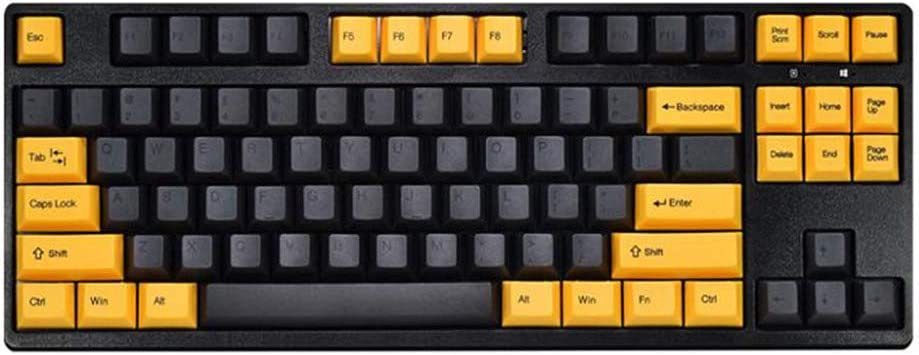 EPOMAKER Hello GANSS GS87D Bluetooth Mechanical Keyboard Connect 5 Devices, PBT Keycaps, Type-C Cable for Windows Mac Gaming (Cherry Blue Switch, Black Gold)