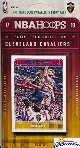 fan products of Cleveland Cavaliers 2017/18 Panini Hoops NBA Basketball EXCLUSIVE Factory Sealed Limited Edition 13 Card Team Set with LEBRON JAMES, Dwayne Wade, Derrick Rose & More! Shipped in Bubble Mailer! WOWZZER