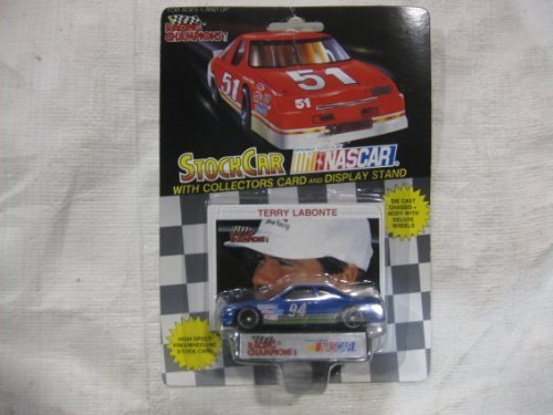 NASCAR #94 Terry Labonte Sunoco Racing Team Stock Car With Driver's Collectors Card And Display Stand. Racing Champions Black Background Red Series 51 Car by Racing Champions ()