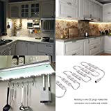 Kimbar LED Under Cabinet Dimmable Lighting Kit Closet Kitchen Counter Vanity Mirror DIY Lights Kit for Makeup Dressing Table Feeding Night Baby Bedside Lamp 36W 2400LM-60leds White 10f (Warm White)