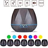 LeVcoecam Aroma Essential Oil Diffuser, 500ml Ultrasonic Cool Mist Humidifier with Color LED