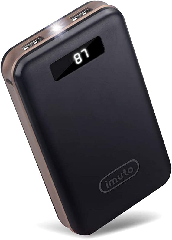 iMuto 20000mAh Portable Charger Compact Power Bank External Battery Pack LED Digital Display Smart Charge iPhone 11 Max Pro XR 10 8 7 Plus, Samsung