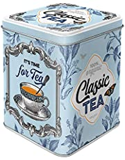 Nostalgic-Art 31302 Classic Tea Container, 7,5x7,5x9,5 cm, Colourful