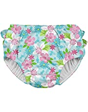 i play. Girls' Baby Ruffle Snap Reusable Swimsuit Diaper