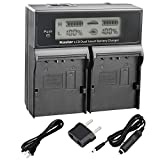 Kastar LCD Dual Smart Fast Charger for SSL-JVC50, SSL-JVC70, SSL-JVC75, BN-S8I50, LC-2J, AA-S3602I, TC-400-JVC650, TC-400-JVC650-TDM, TC200JVC600, TC200JVC600TDM and GY Series Camcorders