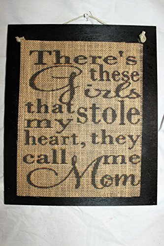Burlap Country Rustic Chic Wedding Sign Western Home Décor Sign : There