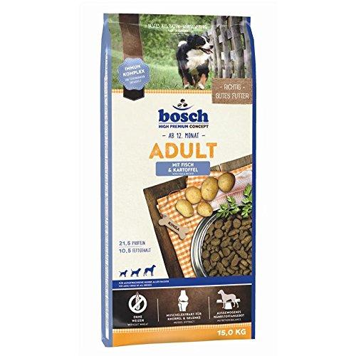 bosch Hundefutter Adult Fisch und Kartoffel, 1er Pack (1 x 15 kg)