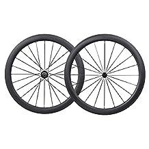 700C Aero Full Carbon Road Bike Wheelset 50mm Clincher Shimano 10/11 Speed 1550g