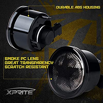 Xprite Five Star LED Front Turn Signal Light Assembly Waterproof Amber Smoke Lens with Parking & Turn Signal Lights Function for 2007-2020 Jeep Wrangler JK & Wrangler Unlimited JKU: Automotive