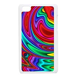 HEHEDE Phone Case Of Zebra Skin Fashion Style Colorful Painted For Ipod Touch 4