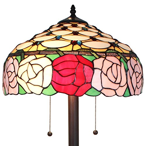 Amora Lighting AM062FL16 Tiffany Style Roses 61-inch Floor Lamp 62 In - Tiffany Style Rose
