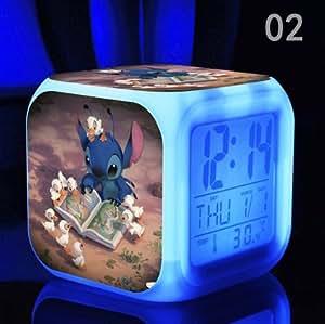 Amazon Com Lilo And Stitch Digital Alarm With 7 Changing