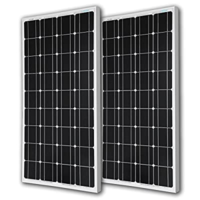 Renogy 2RNG-100D 2 Piece 100W Monocrystalline Photovoltaic PV Solar Panel Module, 12V Battery Charging