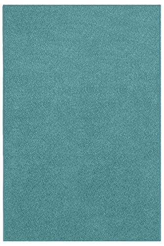 Home Queen Color World Collection Way Solid Color Teal Area Rug - 2'x3'