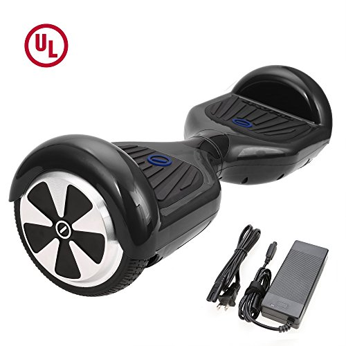 SURFUS 6.5' Waterproof Hoverboard with Buffing Shell UL 2272 Certified Self-Balancing Scooter with LED lights ,Black